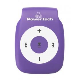 POWERTECH MP3 Player με clip, Ακουστικά, Μωβ- POWERTECH