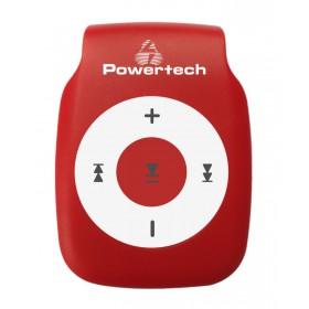 POWERTECH MP3 Player με clip, Ακουστικά, Κόκκινο- POWERTECH