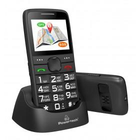 POWERTECH Κινητό Τηλέφωνο Sentry GPS, SOS Call, Dual Sim, με φακό, μαύρο- POWERTECH