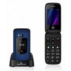 POWERTECH κινητό τηλέφωνο Sentry Dual III, 2 οθόνες, SOS Call, μπλε- POWERTECH