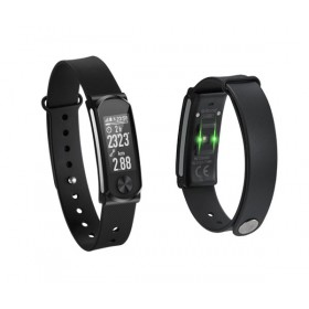 Q-BAND Heart Fitness Band Q-68HR, με Smart Notification, Black- Q-BAND