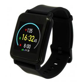 MOBILE ACTION Smartwatch Q-82, έγχρωμη οθόνη, ειδοποιήσεις, steps, μαύρο- MOBILE ACTION