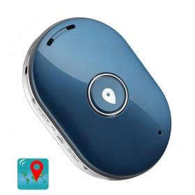 Mini GPS Eντοπισμού Θέσης Q60, 400mAh, Αδιάβροχο, Blue- BULK