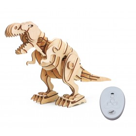 ROKR Ξύλινο 3D πάζλ δεινόσαυρος T-Rex RBT-D200, με κίνηση & ήχο, 102τμχ- ROKR