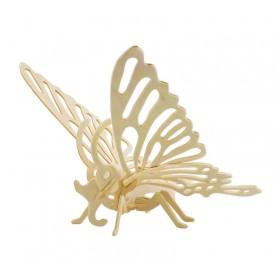 ROWOOD Ξύλινο 3D πάζλ πεταλούδα JP204, 16τμχ- ROWOOD