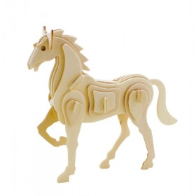 ROWOOD Ξύλινο 3D πάζλ άλογο JP207, 30τμχ- ROWOOD