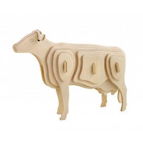 ROWOOD Ξύλινο 3D πάζλ αγελάδα JP251, 23τμχ- ROWOOD