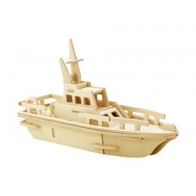 ROWOOD Ξύλινο 3D πάζλ σκάφος JP294, 24τμχ- ROWOOD