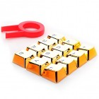 REDRAGON πλήκτρα για Cherry MX μηχανικό πληκτρολόγιο A103, 12τμχ, χρυσά- REDRAGON