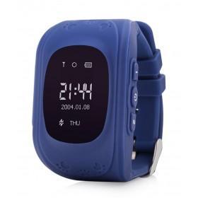 GPS Παιδικό ρολόι χειρός GW300, SOS-Βηματομετρητής, σκούρο μπλε- UNBRANDED