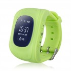 GPS Παιδικό ρολόι χειρός GW300, SOS-Βηματομετρητής, πράσινο- UNBRANDED