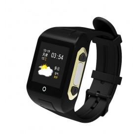 GPS Ρολόι χειρός SD-SW802 για ηλικιωμένους, SOS, μέτρητής παλμών, μαύρο- UNBRANDED