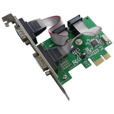POWERTECH Κάρτα Επέκτασης PCI-e to 2x Serial (RS232), Chipset WHC382- POWERTECH