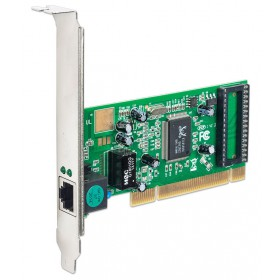 POWERTECH Κάρτα Επέκτασης PCI to LAN 10/100/1000, Chipset RTL8169SC- POWERTECH