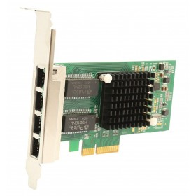 POWERTECH Κάρτα Επέκτασης PCI-e to 4x LAN 10/100/1000, Chip Intel i350- POWERTECH