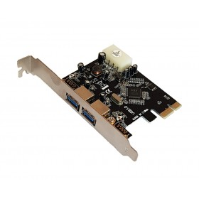 POWERTECH Κάρτα Επέκτασης PCI-e to USB 3.0, 2 ports, Chipset VL805- POWERTECH