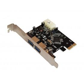 POWERTECH Κάρτα Επέκτασης PCI-e to USB 3.0, 2 ports, Chipset VL805- POWERTECH