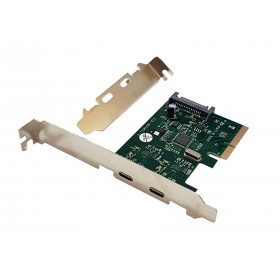 POWERTECH Κάρτα Επέκτασης PCI-e σε 2x USB 3.1 Type C, Chipset ASM1142- POWERTECH