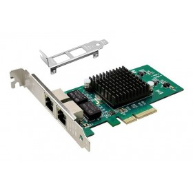 POWERTECH Κάρτα Επέκτασης PCI-e σε 2x LAN, Chip Intel 82576- POWERTECH