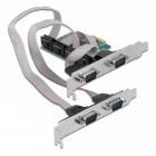 POWERTECH κάρτα επέκτασης PCIe σε 4x Serial DB9 SLOT-031, Chipset CH384L- POWERTECH