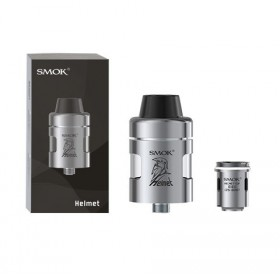 SMOK Ατμοποιητής Helmet, 2.0 ml, 24.5mm, Top Fill, Leek free, Silver- SMOK