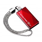 SILICON POWER USB Flash Drive Touch 810, 32GB, USB 2.0, Red- SILICON POWER
