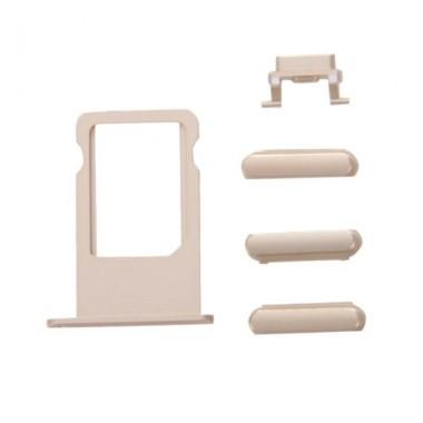 Πλαϊνά πλήκτρα και Βάση Sim για iPhone 7 Plus, Gold- BULK