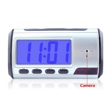 Επιτραπέζιο ψηφιακό ρολόι με κρυφή κάμερα, Silver- BULK