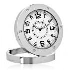 Επιτραπέζιο ρολόι με κρυφή κάμερα και ανιχνευτή ήχου, Silver- BULK
