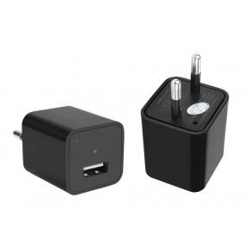 Φορτιστής Κινητού με κρυφή κάμερα Full HD, USB- BULK