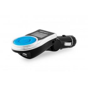 VOICE KRAFT FM Transmitter T-663C με LCD οθόνη, USB, SD, μαύρο- UNBRANDED