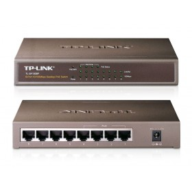 TP-LINK 8-Port 10/100Mbps Desktop Switch with 4-Port PoE - TL-SF1008P- TP-LING - TL-SF1008P