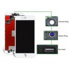 TIANMA High Copy LCD για iPhone 6S, Camera-Sensor ring, ear mesh, White- TIANMA