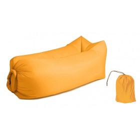 Φουσκωτό στρώμα lazy bag TMV-0027 με τσάντα μεταφοράς, 230x70cm, κίτρινο- UNBRANDED