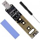 POWERTECH Converter M.2 Key M NVMe σε USB 3.1 Gen 2 TOOL-0045- POWERTECH