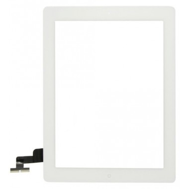 Touch Panel - Digitizer High Copy for iPad 2, tape and home button, White- BULK