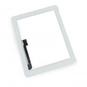 Touch Panel - Digitizer High Copy for iPad 3, with tape, White- BULK