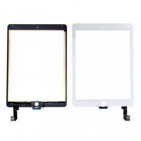 Touch Panel - Digitizer Original for iPad Air 2, bracket and tape, White- BULK