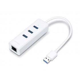 TP-LINK Αντάπτορας USB 3.0 Hub & Gigabit, 3 Port, 18.5cm- TP-LINK