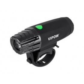 VIPOW εμπρόσθιο φως ποδηλάτου URZ0915, 3W, Toshiba LED, μαύρο- VIPOW