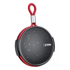 VTIN φορητό ηχείο VNBH221AB, bluetooth, IPX5, 4W, 1000mAh, μαύρο-κόκκινο- VTIN