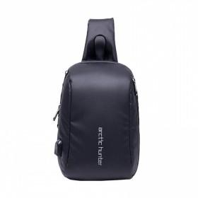 ARCTIC HUNTER Τσάντα Crossbody XB-00081-BK, USB, αδιάβροχη, μαύρη- ARCTIC HUNTER