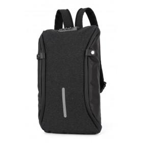 ARCTIC HUNTER τσάντα crossbody XB00046-BK, αδιάβροχη, lock, μαύρη- ARCTIC HUNTER