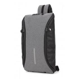 ARCTIC HUNTER τσάντα crossbody XB00046-DG, αδιάβροχη, lock, σκούρο γκρι- ARCTIC HUNTER