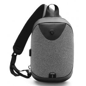 ARCTIC HUNTER τσάντα Crossbody XB0049-DG, tablet, αδιάβροχη, USB, σκούρο γκρι- ARCTIC HUNTER