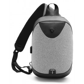 ARCTIC HUNTER τσάντα Crossbody XB0049-LG, tablet, αδιάβροχη, USB, γκρι- ARCTIC HUNTER