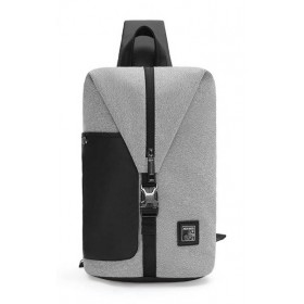 ARCTIC HUNTER τσάντα Crossbody XB00061-DG, αδιάβροχη, ανοιχτό γκρι- ARCTIC HUNTER