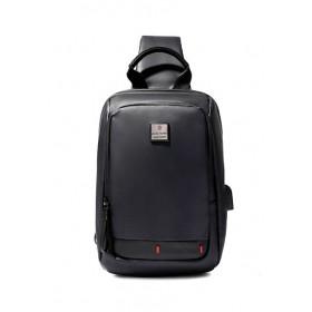 ARCTIC HUNTER Τσάντα Crossbody XB00088-BK, USB, αδιάβροχη, μαύρη- ARCTIC HUNTER