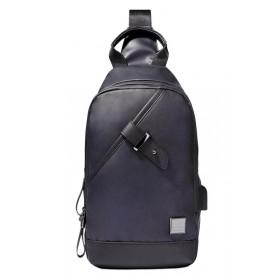 ARCTIC HUNTER Τσάντα Crossbody XB00089-BK, USB, αδιάβροχη, μαύρη- ARCTIC HUNTER