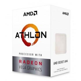AMD CPU Athlon 200GE, 2 Cores, AM4, 1MB, Radeon RX Vega Graphics- AMD